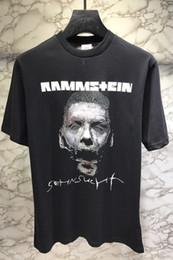Vetements Rammstein T-shirt Das Mulheres Dos Homens Hip Hop Heavy Metal Tees de Manga Curta Tripulação Pescoço Camisa de Algodão Jersey Kanye West Streetwear de