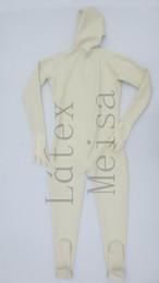 2019 costume pieno bianco del bodysuit Tuta intera in lattice esotico con coprispalle a 3 strati di spessore pesante con cerniera posteriore color bianco latte per uomo costume pieno bianco del bodysuit economici