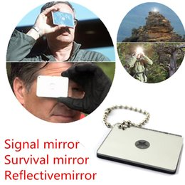 Sos outils en Ligne-Multifonction Signal Miroir camping en plein air Randonnée miroir réfléchissant SOS survie ouTIlS série de secours d'urgence Miroir Signal ZZA291-1