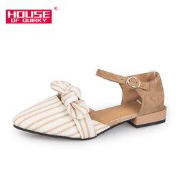 Canada Designer robe chaussures printemps nouvelle mode à talons hauts pointé Racine femmes bouche peu profonde loisirs avec belle Bowknot un mot boucle de ceinture Offre