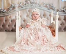 Robe de baptême robe de baptême filles robe de baptême sertie de sous-vêtements roses robes de première communion sur mesure ? partir de fabricateur