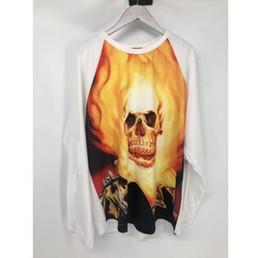 Reiterhemden online-Neue Ghost Rider Raglan L / S Top Langarm T-shirt Männer 1a: 1 Beste Qualität Top Tees Mode t-shirts