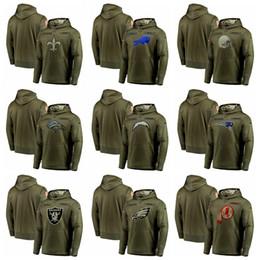 abfadcbbf 2019 adler hoodies Männer Rechnungen Browns Broncos Chargers Patriots  Räuber Eagles Redskins Olive Salute zu Service