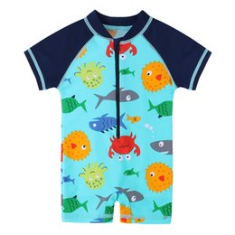 aca8270c65598 Baohulu Boys Swimwear Cute Kids Baby Swimsuit With Cartoon Pattern Toddler  Boy Bathing Suit One Pieces Swim Wear For Children Q190514
