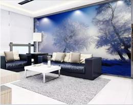 Paesaggistica unita online-Foto personalizzata 3d wallpaper murale Nordic Europa e Stati Uniti foresta paesaggio HD seta TV sfondo (carta da parati muro per soggiorno