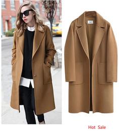cappotto di poncho grigio Sconti Plus Size 5XL Donna Streetwear Moda Cappotti allentati Cappotti lunghi da donna a vita alta Miscele di lana Design tascabile Capispalla Abbigliamento donna