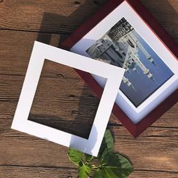 2019 artigianato della carta di decorazione domestica Fai da te a forma quadrata Home Craft Paper Inserti Photo Frame Photo Paperboard Bianco Decorazione 5PCS / Set Bevel Cut Wall Decor sconti artigianato della carta di decorazione domestica