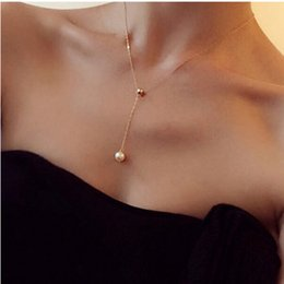 Mujer collares simples online-Collar Colgante Mujer Moda Joyería Perla Oro Plata Luna Estrella Playa Verano Venta al por mayor Pop Simple Regalo