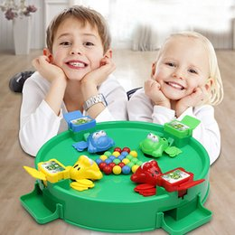 board intelligence Coupons - Classic Intelligence Toys Montessori Crazy Feeding Small Frog Swallowing Beads Eating Beans Casual Brain Action Board Games Parent-child