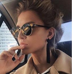 2db3f4afe44 Hot Rays Sunglasses Women Popular Brand Designer Retro men Summer Style Sun  Glasses Rivet Frame Colorful Coating Shades C18122501