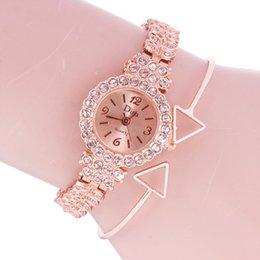 relógio de pulseira chapeada Desconto Pulseira de relógio de quartzo das mulheres novas de 2009 com placa de diamante pequena e tira de aço