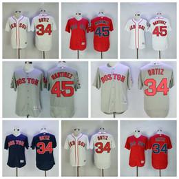 Бейсбольные майки бостон онлайн-Мужчины Бостон Дэвид Ортис Джерси Ред Сокс Педро Мартинес Белый Красный Синий Серый Прохладный Бейсбол Трикотажные изделия