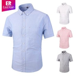 polo factory Promo Codes - Factory direct sales men's Summer Short sleeved shirts men casual POLO small horse shirts fashion Oxford social Solid shirt D0601
