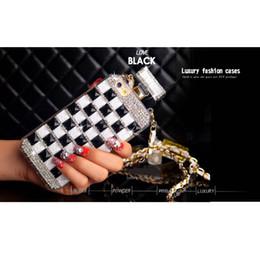 Diamante caso telefone diy on-line-Phone case para iphone xs max xr 6 6 s 7 8 plus x strass diamante frasco de perfume bolsa com cordão corda diy telefone macio case