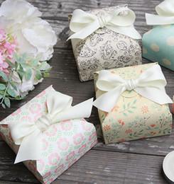 Rosa paisley papier online-2019 rosa Blume Paisley Candy Kekse Pappschachtel für Dekorationen Papiertüten für Süßigkeiten Chocolates Box Hochzeit Dekorationen Backen