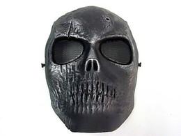 Argentina Al por mayor-Army of Two Skull Full Face Mask Silver Black máscara de baile facial Suministro