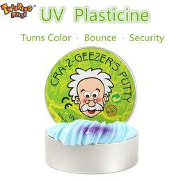 Canada Nouveauté Creative Main Gomme Décolorer Plasticine Slime Intelligent Silly Putty lumière UV Argile Soulager Le Stress Boue Jouets Enfants Cadeau Offre