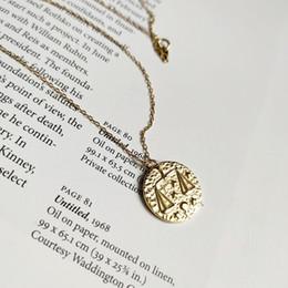 Collares libra online-Nueva llegada popular 925 joyería de plata collar de oro signo Libra zodiaco collar para las mujeres y los hombres para regalo y uso diario