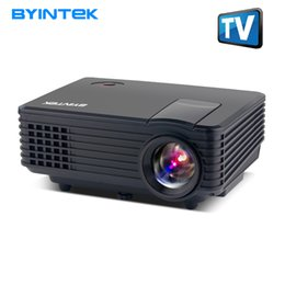 2019 sintonizador hdmi lcd tv BYINTEK SKY BT905 Cine en casa Mini LED Proyector portátil de video HD LCD Proyector Beamer Proyector con HDMI USB Sintonizador de TV Compatible con 1080P rebajas sintonizador hdmi lcd tv