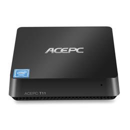 joueur sata Promotion T11 Mini PC pour Windows10 pour Intel Z8350 4GB32GB 2.4G5G WiFi Smart Media Player Baie d'extension SATA HDD Montage VESA