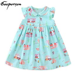 81630efac0649 cute year old girls clothes Coupons - Kids Girl Summer Dress Cotton  Sleeveless Car Printed Dress