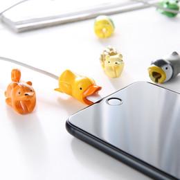 Pato móvil online-Cable Bite Trendy 12 estilos Animales Bite Cable Protector Accesorio Juguetes Cable Bites Tortuga Pato Pescado para teléfono móvil Cable de cargador