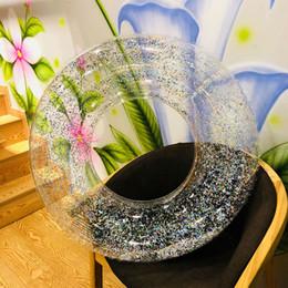 2019 fiori verdi giocattoli Salvagente stagno resistente all'acqua, piscina, accessorio, acqua galleggiante galleggiante, paillettes gonfiabili, semi-trasparente, resistente all'usura