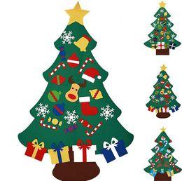Árvore de Natal Moda DIY feltro com decorações Porta Tapeçaria caçoa o presente Educacional Xmas Tress sobre 77X100cm SN93 de
