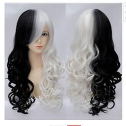 Cores de perucas on-line-YU # selecione Estilo e cor venda quente new000823 Longo Peruca Peruca Anime Encaracolado Perucas