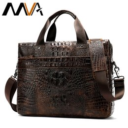 2019 крокодил из натуральной кожи сумки мужчины MVA сумка мужчины натуральная кожа портфель мужской ноутбук сумки для мужчин корова кожа мужская Crossbody сумка Крокодил шаблон 5555 скидка крокодил из натуральной кожи сумки мужчины
