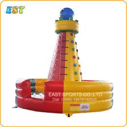 Equipamentos de jogo ao ar livre on-line-Parede inflável da escalada do jogo novo comercial do esporte exterior do equipamento desportivo do projeto para o jogo das crianças