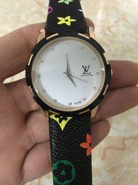 brazaletes de latón macizo Rebajas Nueva moda para mujer relojes 32mm reloj para mujer Marca Correa de cuero Relojes de cuarzo Relogio Montre Femme Louis