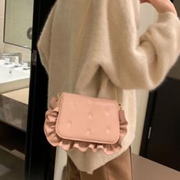 Deutschland Harajuku Mini Wave Rüschen frauen Tasche Kette Umhängetasche Designer Crossbody Party Clutch Geldbörse Lässige Dame Hand 2019 cheap ruffle purses Versorgung