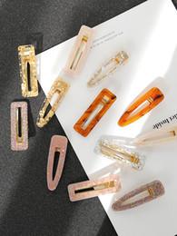 super tarjeta de oro Rebajas Clip geométrico japonés ácido acético acético femenino adulto personalidad simple tarjeta de pelo Super Fairy Gold Leaf Clip accesorios
