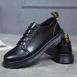 2019 chaussures de travail oxford femme Couple Dr.martins chaussures pour femmes Travail classique Bottes Hommes Hiver Bottes De Neige Automne Outillage chaussures doc.martens Oxfords Unisexe chaussures de travail oxford femme pas cher