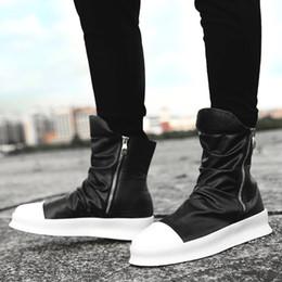 2019 zapatos de hip hop del invierno Hip Hop Moda Otoño Invierno Hombres  Botas Chelsea Zapatos 63751eed1e3