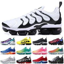 Argentina VapormaxTN Plus Running Shoes Hombres Mujeres Ultra Negro Blanco real persa Violeta Chaussures trullo geométrico entrenador deportivo zapatillas de deporte 36-45 Suministro