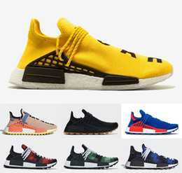 2020 sapatos de caminhada Mens raça humana Running Shoes Pharrell Williams NMDS Hu Trail Oreo Nobel de tinta preta Nerd as sapatilhas das mulheres caminhada sapatos de caminhada barato