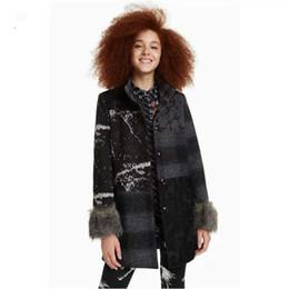 Cheveux espagnols en Ligne-2019 Spanish D Chao Madam Blouson en laine avec surpiqûres et coutures Amovibles