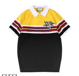 Плюшевые мишки онлайн-19ss Luxurys Американский Высокое Качество Высокой Четкости Teddy Bear Футболка Модные Мужские Дизайнеры Женщины Футболка Поло Случайный Т
