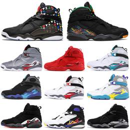 2019 валентинка баскетбольная обувь 2019 AirИорданияРетро 8 8s Tinker Баскетбол обувь мужчины VALENTINES DAY Quai AQUA Размышления дизайнер мужские кроссовки спортивные кроссовки скидка валентинка баскетбольная обувь