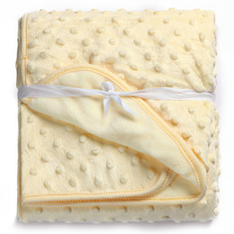 cobertor decke Rabatt Kiddiezoom Babydecke Real Sale Cobertor Babybettwäsche Decke 100 * 75cm Neugeborenen rosa weiß Swaddle Wrap