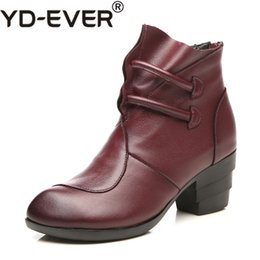 8d9d1ecaaba207 women s handmade leather boots Rabatt YD-EVER Wintermode Martin Stiefel aus  echtem Leder Ankle