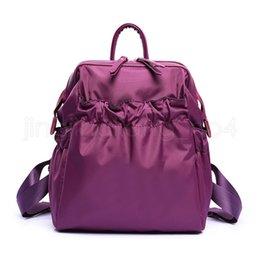 2019 высокие рюкзаки Нейлон водонепроницаемый рюкзак Мода Мужчины женщины сплошные цвета Сумка Студент рюкзак High-End Школьная Сумка LJJV390 дешево высокие рюкзаки