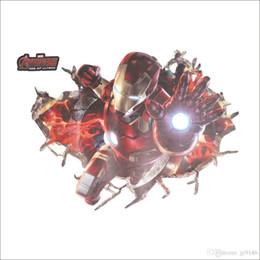 The Avengers 3D Wall Art Decal per bambini PVC rimovibile Iron Man Wall Stickers per la camera dei bambini Camera da letto Home Decor da l'arredamento della stanza dei bambini del ferro dell'uomo fornitori