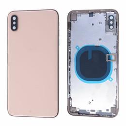boîtier intermédiaire iphone Promotion Pour iphone XS XS MAX Cadre Arrière Moyen Châssis Pleine Logement Assemblage Cache Batterie