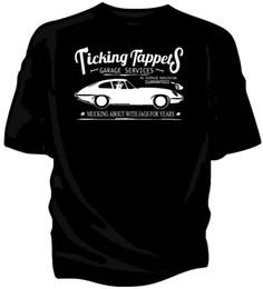 "Vendita auto classica online-T-shirt da auto d'epoca ""Ticking Tappets Garage Services"". E-Type HOT SELL 2018 New Fashion Brand Uomo tees tinta unita corta Sl"