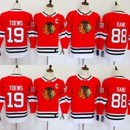 Chicago Blackhawks Maglie 88 Patrick Kane Maglie 19 Jonathan Toews Blank Home Red Kids Hockey su ghiaccio Jersey Uomini Donne Giovani Signore Ragazzi Ragazze supplier patrick kane youth hockey jersey da jersey di hockey di gioventù di patrick kane fornitori
