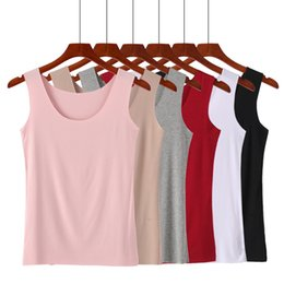 pink crop tank top Coupons - Sleeveless Tank Tops Camis Women V Neck Crop Tops SeamlessTank Tops Underwear Modal Cotton 2019 High Quality 2PCS Free Shipping