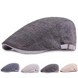 b4b1d8ee wholesale womens berets 2019 - Adjustable Beret Caps Spring Summer Outdoor  Sun Breathable Bone Brim Hats